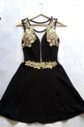 Vestido com bordados