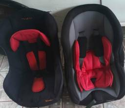 Duas cadeiras para automóveis reclináveis