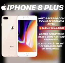 Iohone 8 plus 64gb super promoção!
