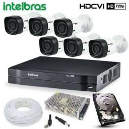 Promoção Kit completo com 4 Câmeras HD Intelbras com instalação GRÁTIS!