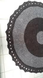 Tapete artesanal de crochê no chenile $390,00