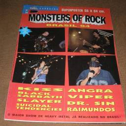 Kiss Slayer Black Sabbath e Suicidal - Monsters of Rock Brasil 94 Pôster