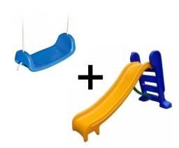 Escorregador 3 degraus e Balanço Prancha para Crianças