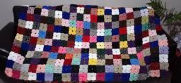 Colcha de fuxico cama de solteiro - 2,10 x 1,63 m