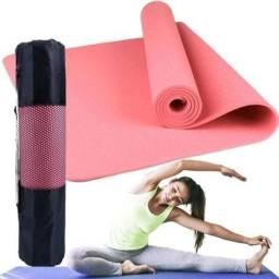 Tapete Colchonete Yoga Pilates Rosa Fitness Ginastica  - Mbfit