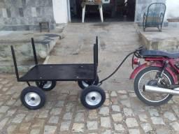 Carrocinha pra puxar a pé de bicicleta ou de moto... zap *