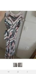 Vestido longo Flor do Caribe