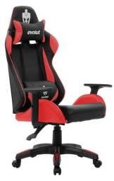 Cadeira Preta e Vermelha Evolut Lite
