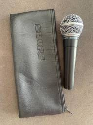 Microfone Shure SM58 (usado) +  Cabo Para Microfone XLR/XLR 7 Metros Garage Line Datalink