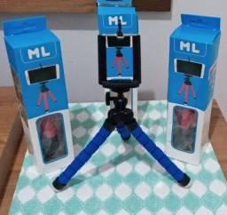 Mini Tripe Flexível Celulares E Câmeras Suporte Universal.