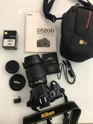 Câmera Nikon SLR D5200 + Kit 18-105mm (9017 Clicks)