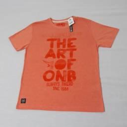 Camisa / Camiseta Onbongo Laranja Casual; Praia