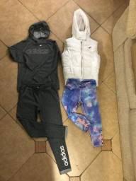 Abrigo Adidas , calça leggin e colete em santa cruz do sul