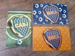 Título do anúncio: 3 Cartões Telefônicos Argentinos - Boca Juniors
