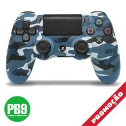 Controle PS4 sony dualshock (camuflado azul)