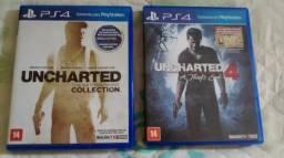 Troco 2 jogos de Playstation 4 por Console Playstation 2, nintendo wii ou Placa de Vídeo