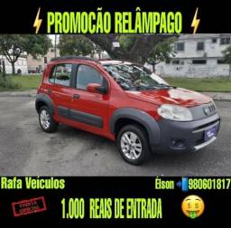 Mega promoção fiat uno 1.0 way 2012 cpm r$ 1.000 mil de entrada - 2012