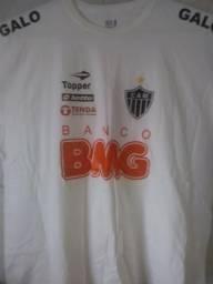 Camiseta Cam Atlético Mg Galo Tamamho Especial Plus Size G6 82 X 78cm Futebol Torcedor
