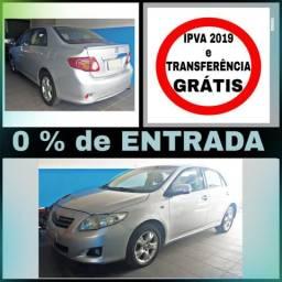 Corolla 1.8 - S/ entrada, IPVA e Transferência GRÁTIS - 2009