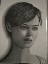 Desenhos Retrato realista (Quadro)