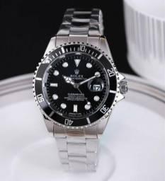 8b7de029f7e Relógio Rolex submariner de quartzo aço com fundo preto