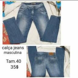 Calça jeans masculina t 40
