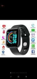 Smartwatch y68. Pacote com 3 unidades. (Novos)