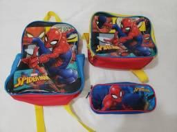BARATO! Kit Escolar Homem Aranha