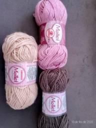 Linhas e lãs de crochê