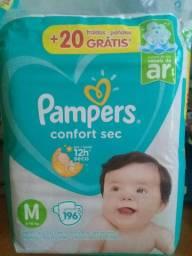 Pacotão Mensal Pampers Confort Sec M