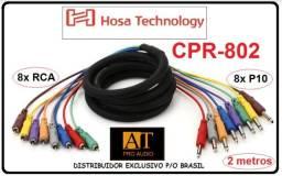 Hosa Technology CPR-802 Cabo Snake 8 Vias P10 Mono X Rca Multicabo 2m na loja AT Proaudio
