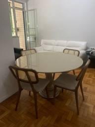 Título do anúncio: Mesa redonda + 5 cadeiras