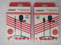 microfone de lapela smartphone e tablet xtrad tipo c ou p3