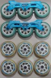 Base 125mm roda roller / patins