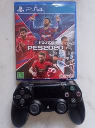 Título do anúncio: Vendo controle PS4 original + jogo.