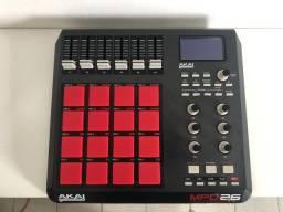Controlador Midi Akai Mpd26 com Pad Thick