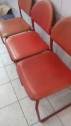 Cadeiras de ferro almofadas 3 unidades só R$29,00 cada