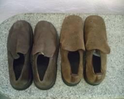 Sapato masculino social em couro da grife CAS/Selo de Controle novos.