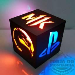 Luminária Mortal Kombat - Gamer - Xbox - Ps4