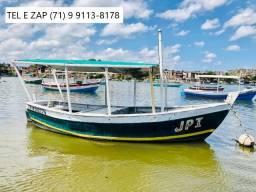 Vendo Excelente Barco de Madeira Fibrado Com Motor Diesel