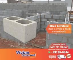 Bloco Concreto Estrutural 14 x 19 x 39cm