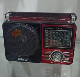 Radio Am/Fm/Sw, Entrada Usb, Cartão Sd, Auxiliar