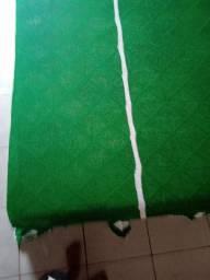 Colcha de cama verde com detalhes brancos preço a tratar
