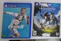 2 Jogos de PS4 - Horizon Zero Dawn e FIFA 19