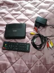 Vendo conversor digital só o aparelho e o controle não tem antena