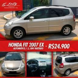 Honda fit 2007 ex 1.5 gnv injetado top de linha - 2007