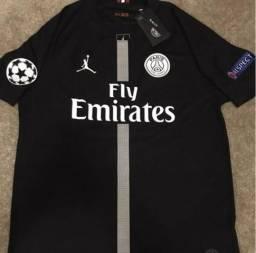 Camisa de futebol original Nike Air jordan PSG Neymar e Mbappe cf5c302698fe4