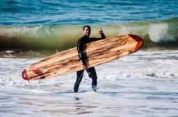 Longboard em madeira