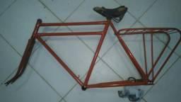 Quadro bicicleta duplo antiga aro 28