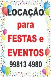 Aluga-se p/ Festas e Eventos